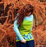 Tričká - Dámske tričko batikované a maľované TRNKY - 6060722_