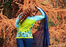 Tričká - Dámske tričko batikované a maľované TRNKY - 6060752_