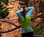 Tričká - Dámske tričko batikované a maľované TRNKY - 6060764_