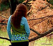 Tričká - Dámske tričko batikované a maľované TRNKY - 6060777_
