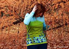 Tričká - Dámske tričko batikované a maľované TRNKY - 6060790_