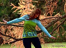 Tričká - Dámske tričko batikované a maľované TRNKY - 6060800_