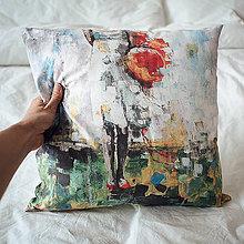 Úžitkový textil - Vankúšik, Balónová slečna - 6062700_