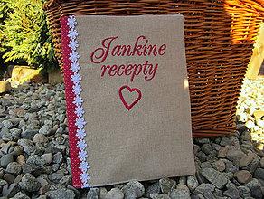 Papiernictvo - Obal + zápisník Jankine recepty - 6061550_