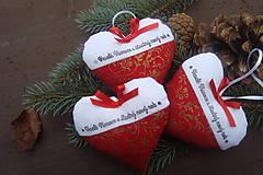Dekorácie - Vianočné srdiečko ako darček - 6063039_