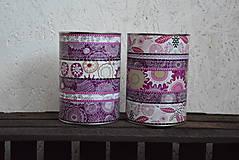 Nádoby - SKLADOM - fialové dózy - 6061077_