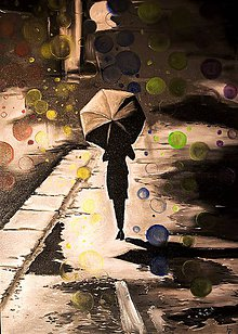 Obrazy - V daždi. - 6071292_