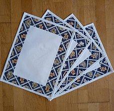 Úžitkový textil - Prestieranie s vianočným/zimným motívom - 6069573_