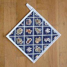Úžitkový textil - Chňapka s vianočným/zimným motívom - 6069687_