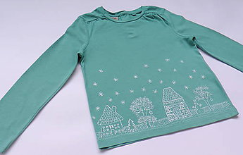 Detské oblečenie - Zimná krajina - 6072648_