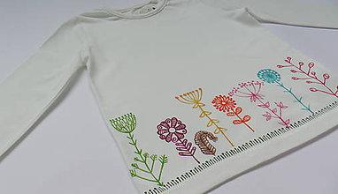 Detské oblečenie - Kvietky po škandinávsky alebo vyskúšame fixky - 6072657_