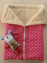 Textil - Merino Blankets 75 x 105 cm Hviezdička ružová pink - 6071697_
