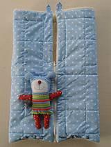 Textil - Merino Deka 75 x 105 cm bledomodrá hviezda - 6071858_
