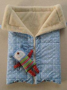 Textil - Merino Deka 75 x 105 cm bledomodrá hviezda - 6071861_