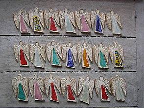 Dekorácie - anjeliky vo farbách - 6066151_