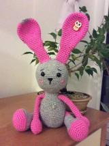 Hračky - Zajačik ružové potešenie - 6072077_