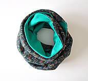 Šatky - zimná šatka cik-cak zelená - 6067685_