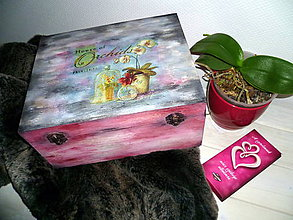 Krabičky - Hlboká krabica s orchideou :) - 6071954_