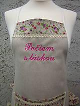 Iné oblečenie - Dámska zástera Pečiem s láskou - 6070458_