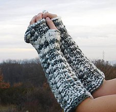 Rukavice - bezprstové rukavice osmičkové - 6069396_