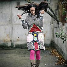 Šaty - Origo mikino šaty domček - 6065656_