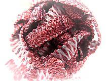 Galantéria - červený prámik - 6068220_