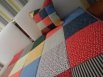 Úžitkový textil - patchwork vankúš kolor mix - 6076724_