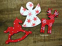 Dekorácie - vianočne ozdobky na venček - 6074772_
