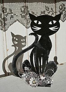 Dekorácie - Dekorácia Mačka čierna 01 - 6073801_