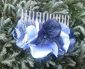 Ozdoby do vlasov - kvetinkový hrebienok - 6073436_