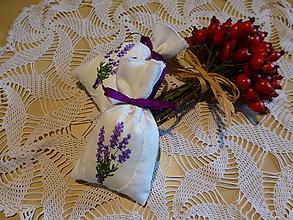 Úžitkový textil - Levanduľové vrecúško - 6076907_