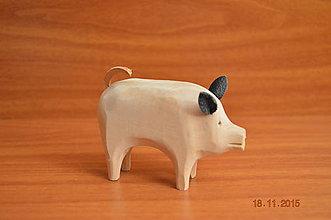Hračky - Prasiatko vyrezávané drevené - 6076190_