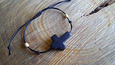 Šperky - jednoduchý pánsky náramok s krížikom - 6077444_