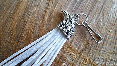 Šperky - kľúčenka s hlavou dravca - 6077519_