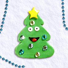 Magnetky - Vianočný stromček s osobnosťou 1 - veselý - 6074390_