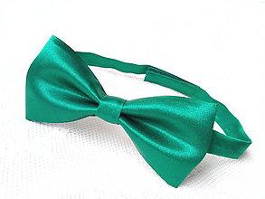 Doplnky - Svadobný pánsky motýlik (tmavo-zelený) - 6079797_
