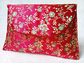 Taštičky - Vintage Japanese pochette (red/gold/green) - 6080328_