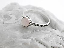 Strieborný prsteň s ruženínom little Rozzi