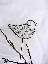 Dekorácie - vtáčik...vrabčadlo strapaté... - 6078777_