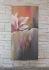 Obrazy - Kvet, 30x60, originál - 6081119_