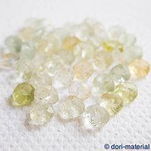 Minerály - žltozelený akvamarín, 4 x 2 mm - 6081393_