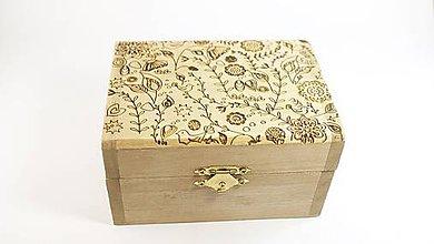 Krabičky - Drevená krabička s prírodným vzorom - 6077843_
