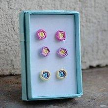 Sady šperkov - Darčeková sada napichovačiek pastelová - aj detské - 6081882_
