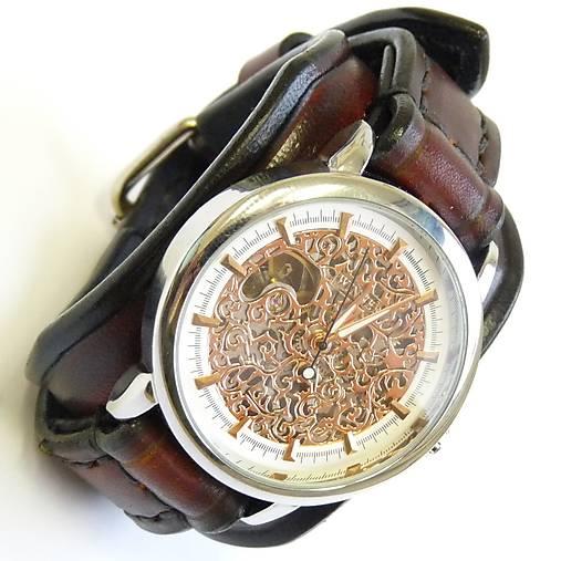 31db9b474 Unisex hodinky, hnedý kožený remienok / leon - SAShE.sk - Handmade ...