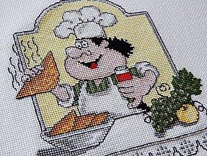 Obrázky - Výšivka - kuchár 7 - 6079402_