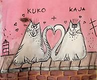 """Tričká - Tričko pre frajerov alebo """"zamilovaní mačiaci"""" - 6078357_"""