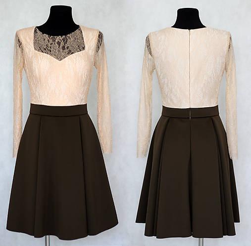 3464ca100882 Elastické koktejlové šaty vo vintage štýle s dlhým rukávom SKLADOM ZLAVA