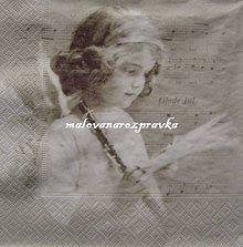 Papier - Sagen kolekcia anjelik s flautou - 6081103_
