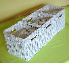 Košíky - biely s otvorom na prenášanie - 6078921_