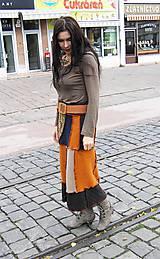 Sukne - lelovica maxisukňa mestská :-) - 6085870_